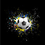 Soccer ball dash on colorful & grunge texture isolate on black background, vector & illustration Stock Photography