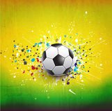 Soccer ball dash on green grunge texture background,  & illustration Royalty Free Stock Photos