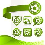 Soccer Ball Design Kit Stock Image