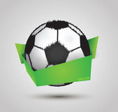 Soccer ball design by origami on white background Stock Images