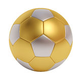 Soccer ball from different metals isolated on white background. 3d soccer ball from different metals isolated on white background Stock Photos