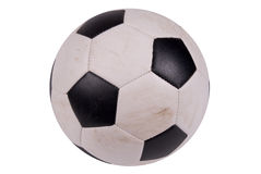 Soccer ball with dirt Royalty Free Stock Image