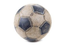 Soccer ball. Dirty Soccer ball isolated on white background royalty free stock photo