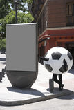 Soccer ball disguise Royalty Free Stock Images