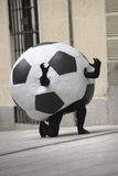 Soccer ball disguise Stock Image