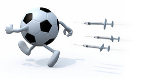 Soccer ball doping concepts Stock Image