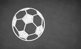 Soccer ball drawn on chalkboard. Royalty Free Stock Images