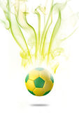 2014 soccer ball with effect. Special effect on 2014 football with special color Stock Photo
