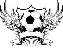 Soccer ball emblem stock illustration