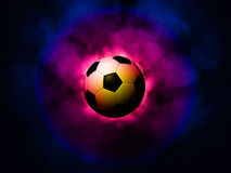 Soccer ball energetic background Royalty Free Stock Photo