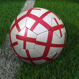 Soccer Ball with English Flag Stock Photos