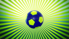 Soccer ball episode 2 stock footage