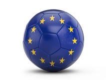 Soccer ball EU flag Stock Photography