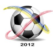 Soccer Ball Euro 2012. Background Soccer Ball Euro 2012 Royalty Free Stock Images