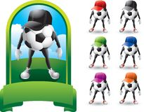 Soccer ball fans Royalty Free Stock Images