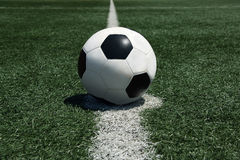 Soccer ball field Royalty Free Stock Photography