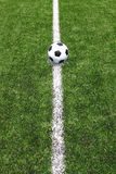 Soccer ball on the field Royalty Free Stock Image