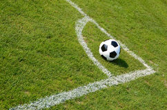 Soccer ball. On the field Stock Photo
