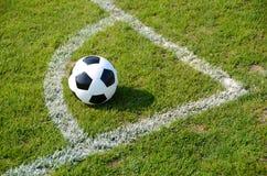 Soccer ball. On the field Stock Photos