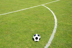 Soccer ball. On the field Royalty Free Stock Images