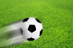 Soccer ball on a field Royalty Free Stock Images