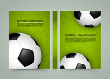 Soccer ball field banner, Sport cover, A4 size paper, Vector. Soccer ball on the field banner, Sport cover background, A4 size paper Royalty Free Illustration
