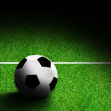 Soccer Ball on Field With Copy Space Royalty Free Stock Photography