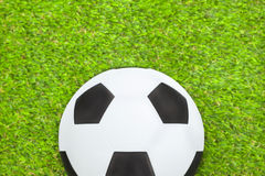 Soccer ball on the field Royalty Free Stock Photo
