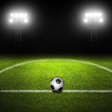 Soccer Ball in Field Stock Photos