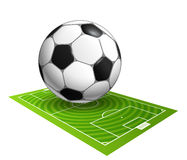 Soccer ball on the field illustration Royalty Free Stock Photography