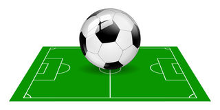 Soccer ball field isolated Royalty Free Stock Image