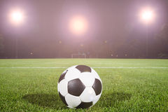 Soccer ball on field Royalty Free Stock Image