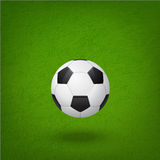 Soccer ball on the field. Royalty Free Stock Photography
