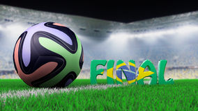 Soccer ball and final Stock Images