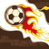 Soccer ball on fire. Stock Images