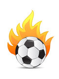 Soccer Ball in fire. Illustration design over a white background Royalty Free Stock Images