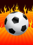 Soccer Ball with Fire Background Royalty Free Stock Photo