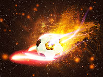 Soccer Ball in Fire Royalty Free Stock Image
