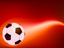 Soccer Ball on Fire. EPS 8 Stock Photography