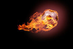 Soccer ball with fire Royalty Free Stock Image