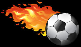 Soccer ball on fire. Illustration Royalty Free Stock Photo