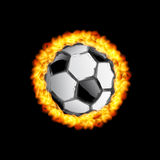 Soccer Ball Fire Illustration background. Easy editable Royalty Free Stock Image