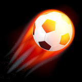 Soccer Ball on Fire. Illustration of a soccer ball in flames on a black  background Royalty Free Stock Image