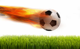 Soccer Ball on Fire. Stock Photos