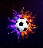 Soccer ball in fire. Soccer ball on fire, vector art illustration Royalty Free Stock Photo