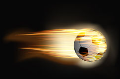 Soccer ball on fire. Vector illustration Soccer ball on fire Stock Photos
