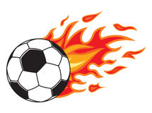 Soccer ball in fire. Vector illustration of the Soccer ball in fire Royalty Free Stock Image