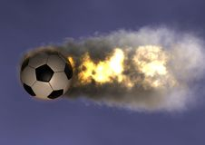 Soccer ball FireBall Royalty Free Stock Image