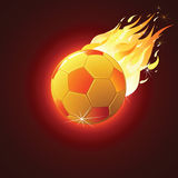 Soccer Ball Fireball. Fiery Flaming Soccer Ball. Vector Sport Background Stock Images