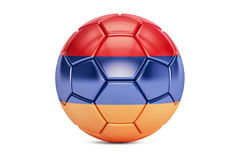 Soccer ball with flag of Armenia, 3D rendering Royalty Free Stock Image